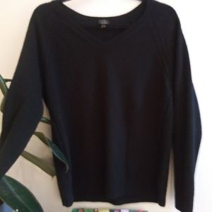 Talbots black cashmere v-neck sweater